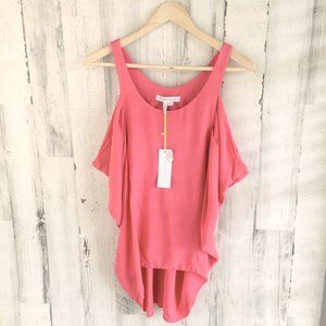 BCBGeneration Side Draped Tank Top Guava Pink